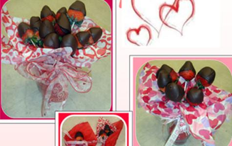 Swingers show choir selling valentine chocolates