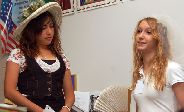 Simons English classes take on roles from 'Great Expectations' book