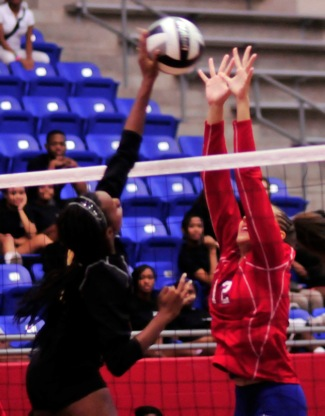 Varsity volleyball vs. Garland