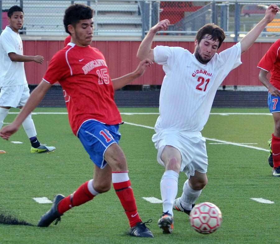 Varsity+Boys+Soccer+vs.+Cedar+Hill+