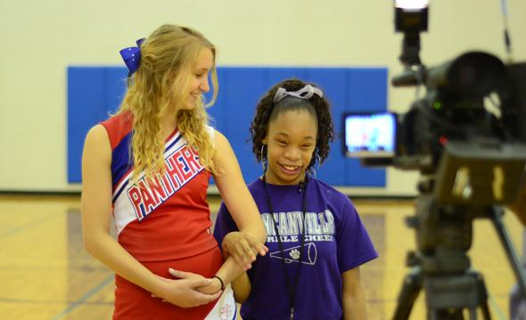 Cheer squad and Sparklers cheerleaders to appear on Channel 5 News