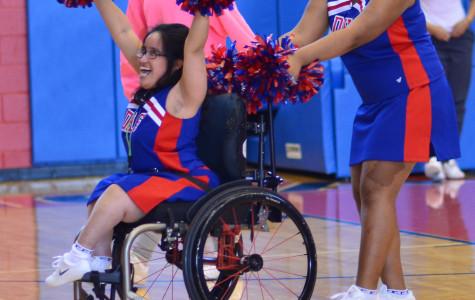 Sparklers cheerleaders pump up crowds at school functions despite disabilities