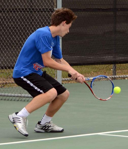 Photos: District Varsity Tennis Day 1