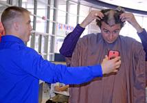 Photos: Mr. Bradford Shaves Head