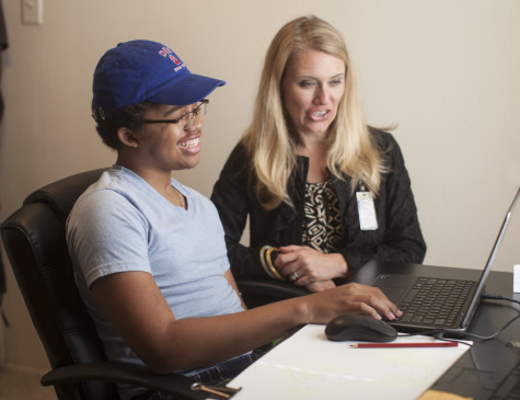 Home-bound student Storm Malone returns to campus with help of robotic technology