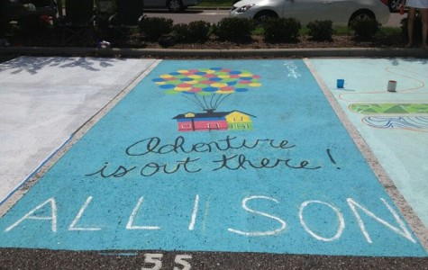 Painted senior parking spots offer fundraising option, improve school spirit