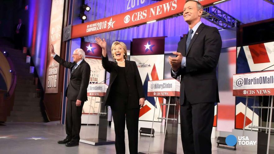 The+three+Democratic+candidates+duked+it+out+at+the+second+Democratic+debate+on+November+14.+