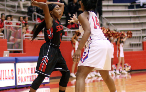Varsity girls basketball competes with South Grand Prairie