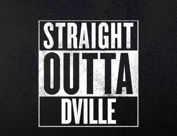 The+%22Straight+Outta+Dville%22+shirt+is+inspired+by+the+movie+Straight+Outta+Compton%2C+which+has+risen+in+popularity+since+its+remake.+