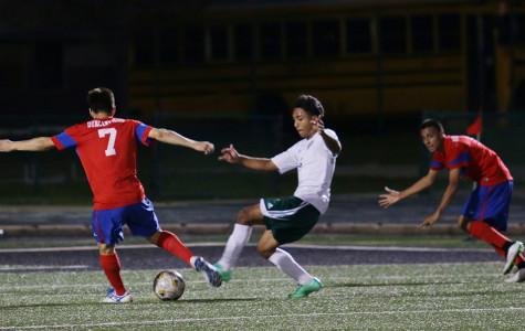 Varsity soccer boys win against Desoto