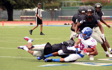 Varsity Football wins their scrimmage against Lancaster