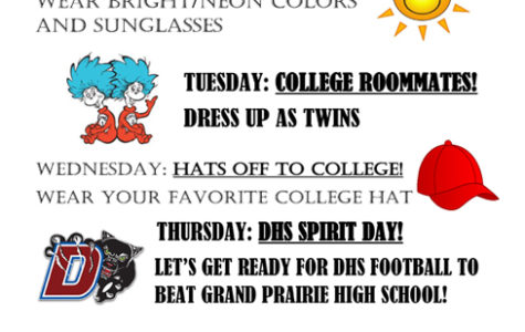 Special college week dress up days