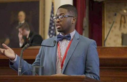 Sharif Long ran for an won with a large margin the Governor for the State in Youth and Government. (Dedric Williams photo)