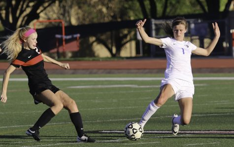 Varsity Girls soccer goes against Coppell