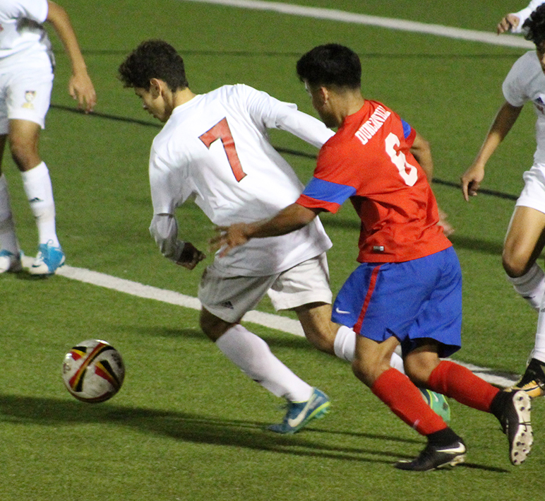 The+varsity+boys+soccer+team+will+face+Waco+Midway+in+the+first+round+of+playoffs+thursday+at+7+pm.+