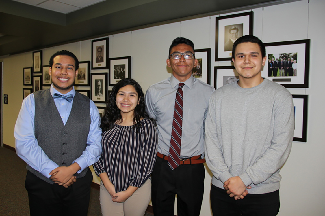 Jacob Hernandez, Gilberto Hernandez, Melanie Hernndez and Chase Anderson are juniors at Duncanville High School who scored in the top 2.5% of the PSAT/NMSQT among all Hispnaic test takers while achieving a cumulative grade point average of 3.5 or higher. Based on that academically exceptional achievement, they have received the National Hispanic Scholars Award.