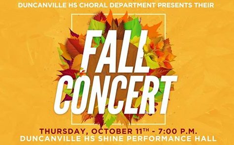 Choir Fall Concerts October 11,2018!