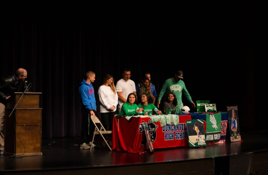 Seniors Desiree, Destiny and Sileen all signed to UNT November 14th 2018