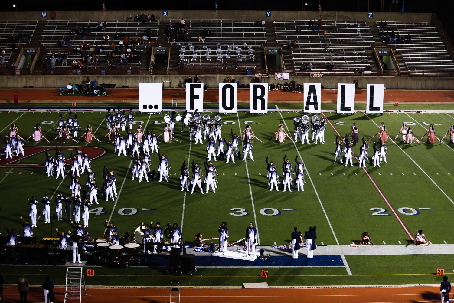 The Duncanville Band performing during halftime vs W.T. White (Photo by Sarah Colchado)