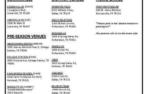 Girls Varsity Soccer Schedule
