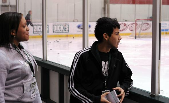 High School students take part in Dallas Stars Media Day