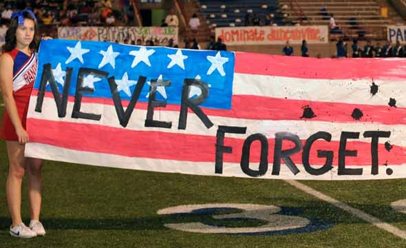 Halftime show pays tribute to events of 9-11