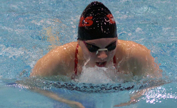 Bartosh to represent swim team at state meet in breast stroke