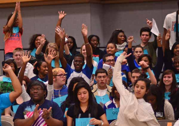 Over 100 students showed up for tryouts to the 'Footloose' show in May. (Leenolia Robinson photo)