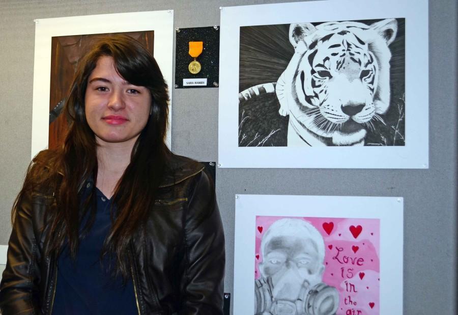 Several students won art awards at the recent Visual Arts contest. (Morgan Montgomery photo)