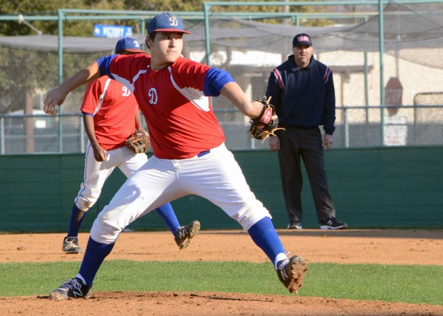 The varsity baseball team will play a double header on Friday to make up for a rain delay last week. (Xavier Goode photo)