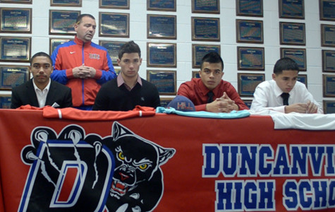 Soccer Players sign letter of intent to play at HIll College. (Cody Rogers photo)