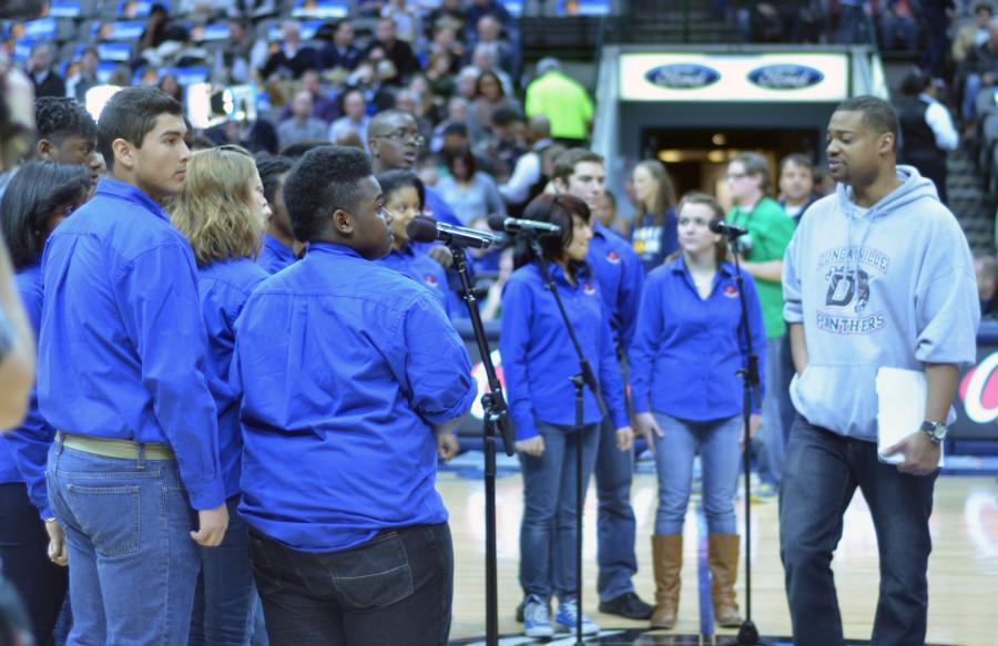 Photos: DHS Velocity Show Choir and Chambers Singers perform at Mavericks Game