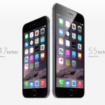 A screenshot from Apple's website of the iPhone 6 and iPhone 6+. (Credit to Apple)