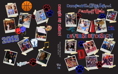 A picture of the cover designed by the editors and staff of the yearbook.