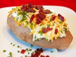Teachers can get a baked potato with all the fixings as well as a salad, drink and sweets tomorrow.