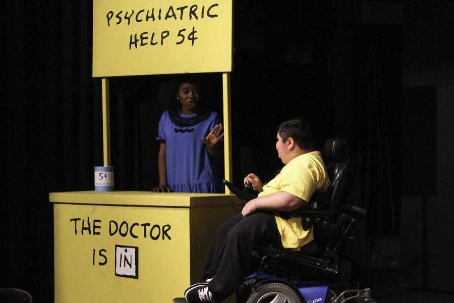 Theatre students perform Charlie Brown play