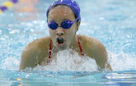 Swim team qualifies various teams, individuals for upcoming regional tournament