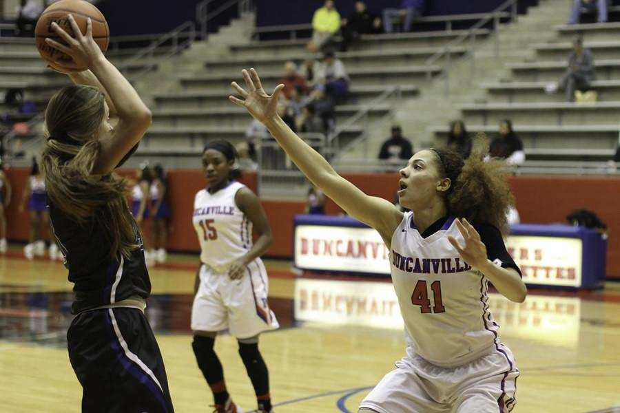 Varsity Pantherettes play against Midlothian Panthers