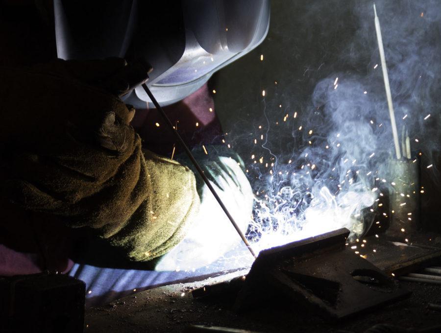 Welding sparks a creation