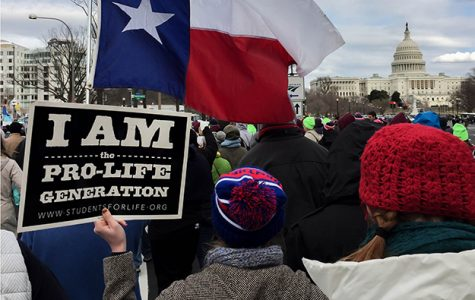 Students from Duncanville join fellow texans in the march for life at the Capital. (Amie Kinard photo)
