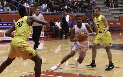 Boys Varsity Basketball beats their rival DeSoto