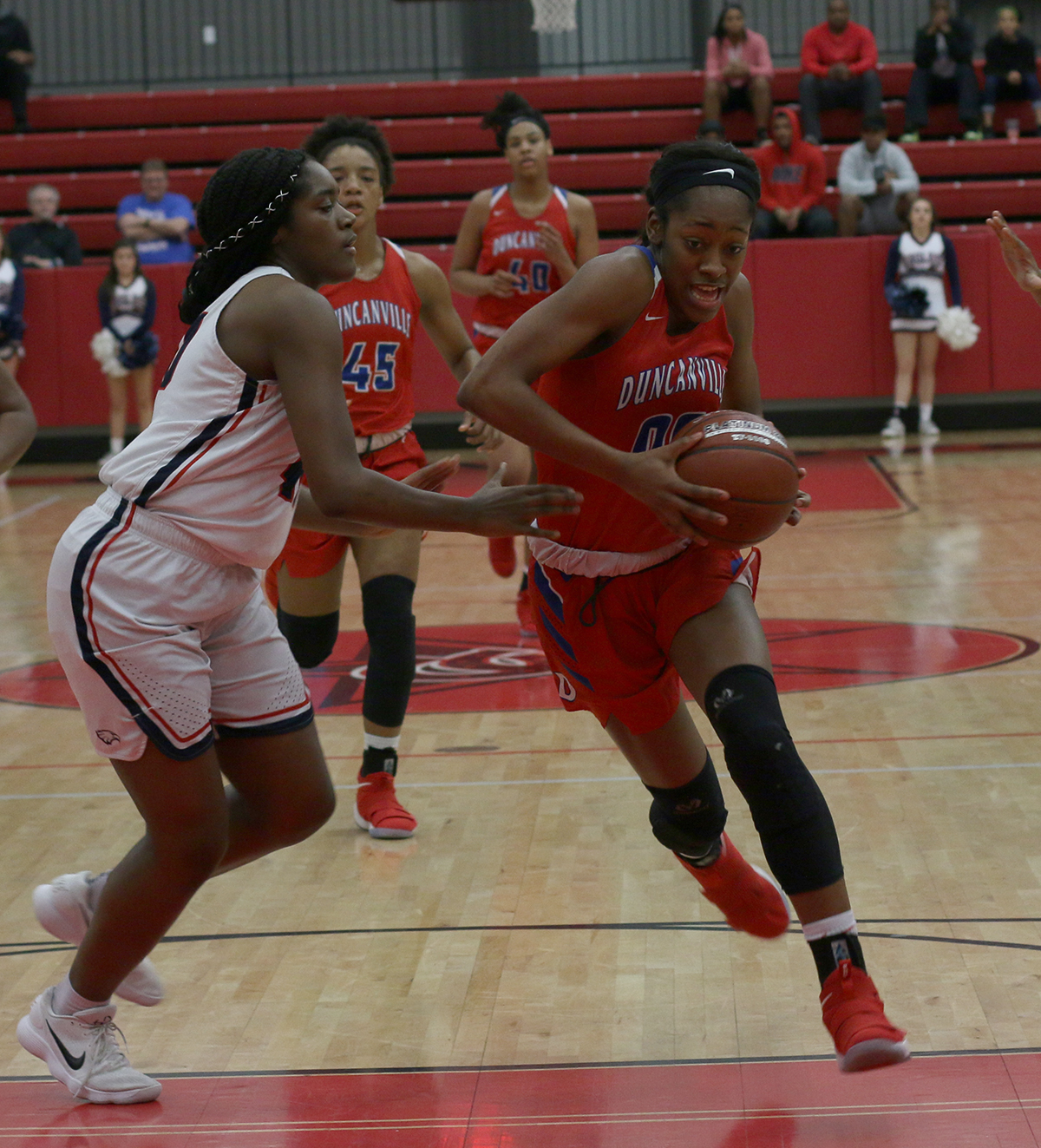 Senior Zarielle Green pushes to the basket for the shot against Allen in the third round of playoffs. (Chana Stanley photo)