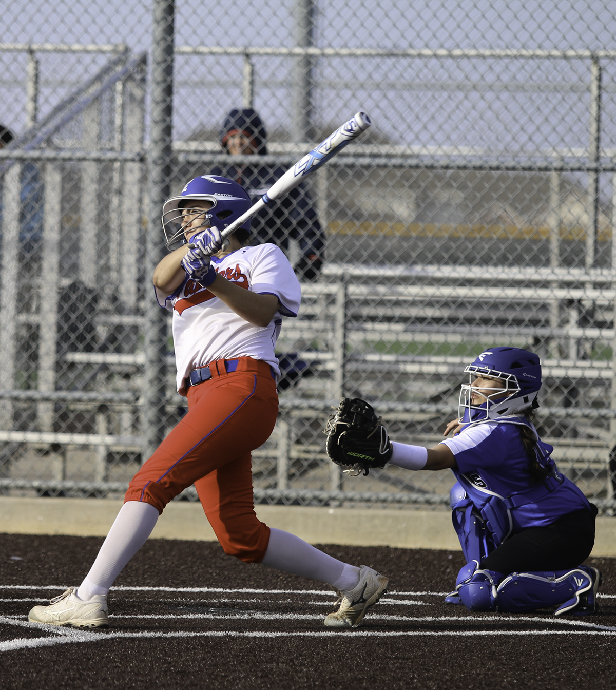 Junior pitcher Seleen Donohoe drives the ball out during a recent game. (Victoria Sanchez photo)