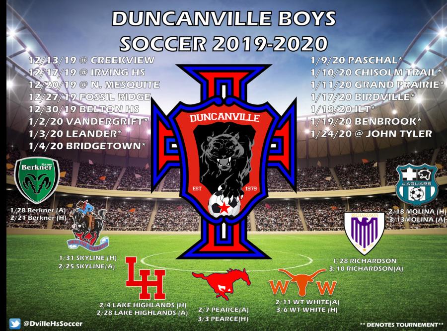 Boys Varsity Soccer Schedule