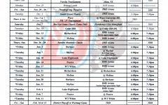 Girls Varsity Basketball Schedule